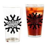 Melanoma Cancer Sucks Drinking Glass