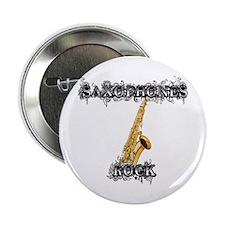 """Saxophones Rock 2.25"""" Button"""