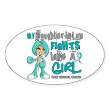 Fights Like a Girl 42.9 Cervical Cancer Decal