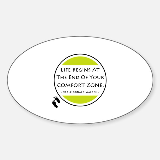 'Comfort Zone' Sticker (Oval)