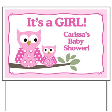 baby shower gifts girl baby shower yard signs carissas baby shower