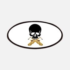 Skull with Saxophones Patches