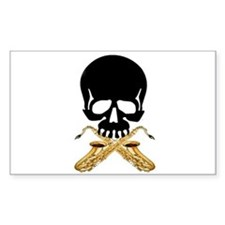 Skull with Saxophones Decal