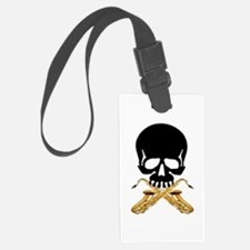 Skull with Saxophones Luggage Tag
