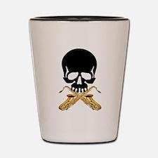 Skull with Saxophones Shot Glass