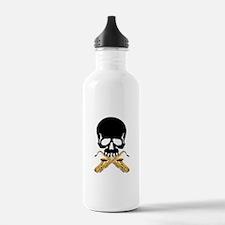 Skull with Saxophones Water Bottle