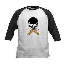 Skull with Saxophones Baseball Jersey