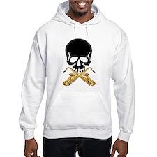 Skull with Saxophones Hoodie
