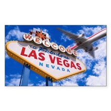 Welcome to Las Vegas sign with Decal
