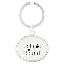 College Bound Oval Keychain