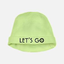 'Let's Go' baby hat