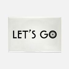 'Let's Go' Rectangle Magnet