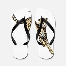 Cheetah Wild Cat Flip Flops