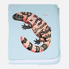 Gila Monster Lizard baby blanket