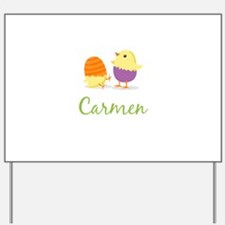 Easter Chick Carmen Yard Sign