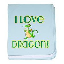 I love Dragons 2 baby blanket