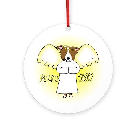 Peace Joy Border Collie Christmas Ornament