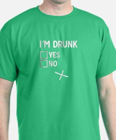 I'm Drunk Checklist. Yes or No? T-Shirt
