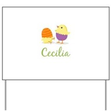 Easter Chick Cecilia Yard Sign