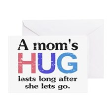 A Moms Hug Greeting Card