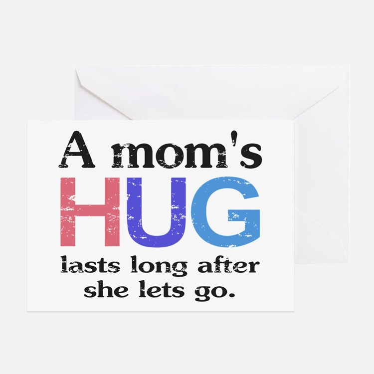 A Moms Hug Greeting Card