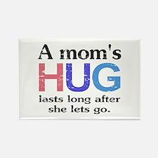 A Moms Hug Rectangle Magnet