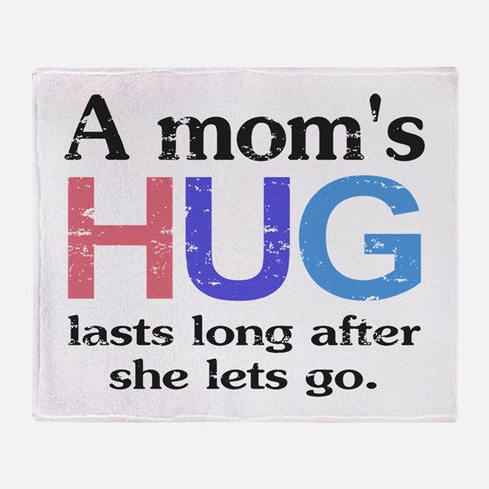 A Moms Hug Throw Blanket