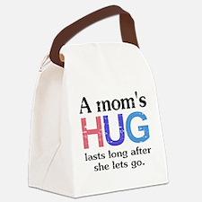 A Moms Hug Canvas Lunch Bag