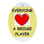 duplicate bridge Ornament (Oval)