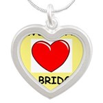 duplicate bridge Silver Heart Necklace