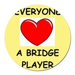 duplicate bridge Round Car Magnet