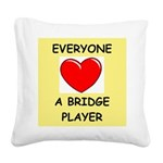 duplicate bridge Square Canvas Pillow