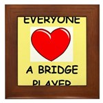 duplicate bridge Framed Tile