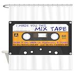 Shower Curtain Cassette Tape