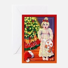 Santa Christmas Greeting Cards (Pk of 10)