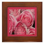 Shower of Roses, St. Therese Framed Tile