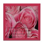 Shower of Roses, St. Therese Tile Coaster