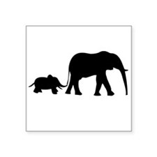 Elephant Motif Mother and child Sticker