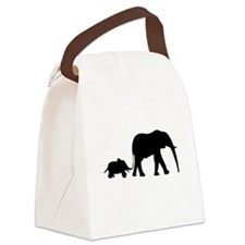 Elephant Motif Mother and child Canvas Lunch Bag