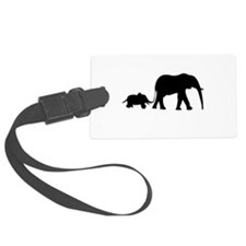 Elephant Motif Mother and child Luggage Tag
