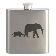 Elephant Motif Mother and child Flask