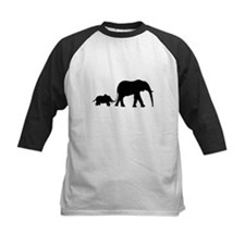 Elephant Motif Mother and child Baseball Jersey