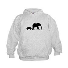 Elephant Motif Mother and child Hoody