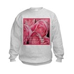 Shower of Roses, St. Therese Kids Sweatshirt