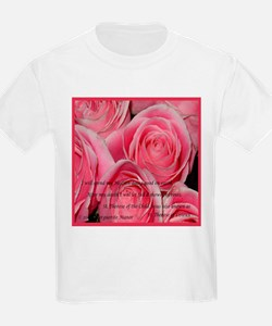 Shower of Roses, St. Therese Kids T-Shirt