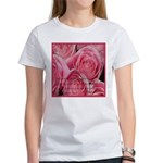 Shower of Roses, St. Therese Women's T-Shirt