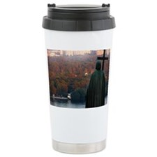 Dniepr river and the autumn cit Travel Mug