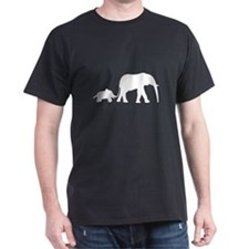 Elephant Motif Mother and child T-Shirt
