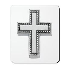 Silver Cross/Christian Mousepad