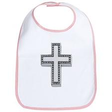 Silver Cross/Christian Bib